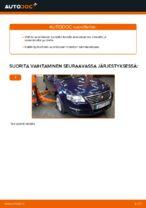 Kuinka vaihtaa itsenäisen jousituksen etupuolen alatukivarsi VW Passat Variant 3C5 malliin