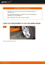 Step by step PDF-tutorial on Shock Absorber FORD MONDEO III Estate (BWY) replacement