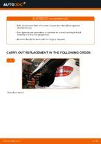 Changing Shock Absorber MERCEDES-BENZ B-CLASS: workshop manual
