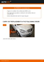 Step by step PDF-tutorial on Anti Roll Bar Links MERCEDES-BENZ B-CLASS (W245) replacement
