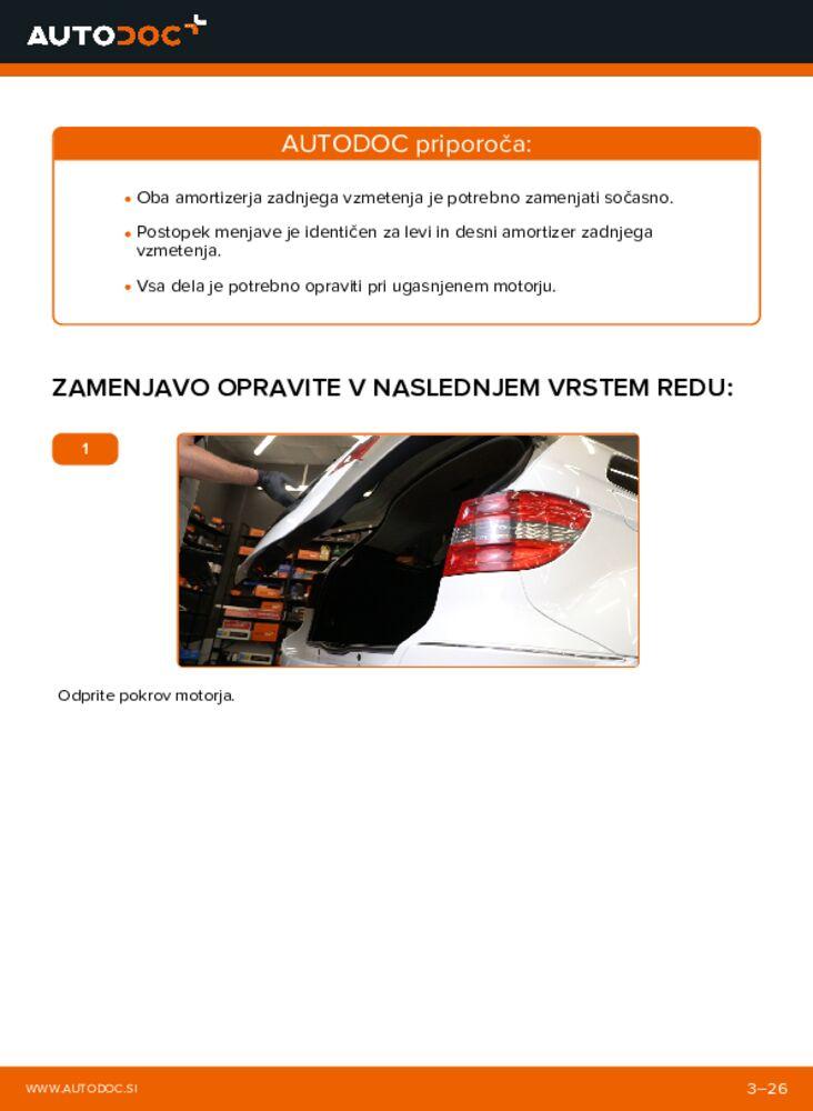 Kako izvesti menjavo: Blazilnik na B 180 CDI 2.0 (245.207) Mercedes W245