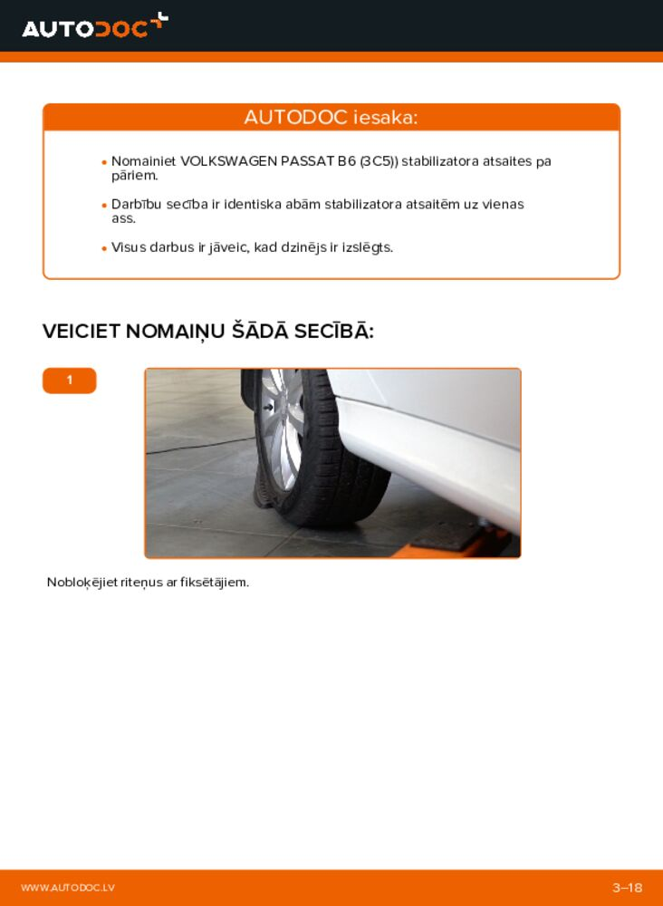 Kā veikt nomaiņu: B 180 CDI 2.0 (245.207) Mercedes W245 Savienotājstienis