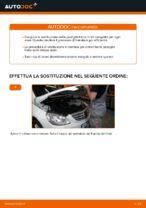 PDF manuale di sostituzione: Pasticche freni MERCEDES-BENZ Classe B (W245) posteriore e anteriore