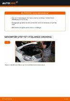 bak och fram Bromsbelägg MERCEDES-BENZ B-klass (W245) | PDF instruktioner för utbyte