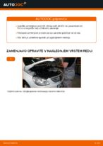 Brezplačna spletna navodila kako obnoviti Zavorne Ploščice MERCEDES-BENZ B-CLASS (W245)
