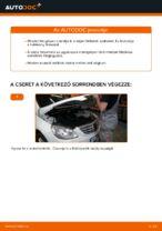 Online kézikönyv – saját kezű MERCEDES-BENZ B-CLASS (W245) Gumiharang Készlet Kormányzás csere