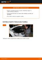Pakeisti Stabdžių Kaladėlės MERCEDES-BENZ B-CLASS: instrukcija