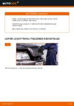 Hvordan skifter man og justere Bremseklods MERCEDES-BENZ C-CLASS: pdf manual