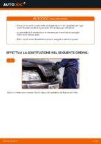 PDF manuale di sostituzione: Pasticche freni MERCEDES-BENZ Classe C Sedan (W202) posteriore e anteriore