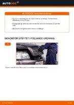 bak och fram Bromsbelägg MERCEDES-BENZ C-klass Sedan (W202) | PDF instruktioner för utbyte
