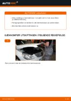 Montering Bremsekloss MERCEDES-BENZ B-CLASS (W245) - steg-for-steg manualer