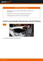 MERCEDES-BENZ B-CLASS (W245) Takajarrupalat ja etujarrupalat asennus - vaihe vaiheelta korjausohjeet