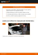 Zamenjavo Zavorni kolut: pdf navodila za MERCEDES-BENZ B-CLASS
