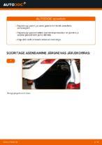 Online tasuta juhised kuidas vahetada Tagaluugi amort MERCEDES-BENZ B-CLASS (W245)