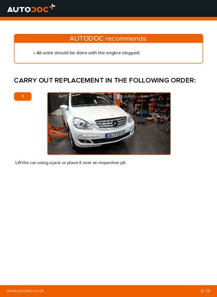 How to carry out replacement: Poly V-Belt on B 180 CDI 2.0 (245.207) Mercedes W245
