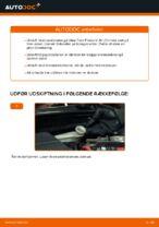 Hvordan bremseskiverne foran på Ford Fiesta V JH JD udskiftes