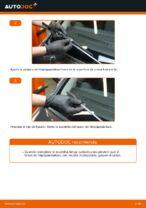 Cómo cambiar las escobillas delanteras de limpiaparabrisas en Ford Fiesta V JH JD