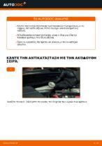 Πώς αντικαθιστούμε τα μπροστινά τακάκια των δισκόφρενων σε Ford Fiesta V JH JD