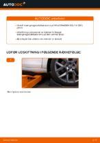 Montering af Stabilisatorarm VW GOLF VI (5K1) - trin-for-trin vejledning