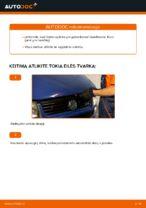 Automechanikų rekomendacijos VW VW TRANSPORTER IV Bus (70XB, 70XC, 7DB, 7DW) 2.4 D Stabdžių apkaba keitimui