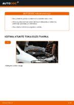 Kaip pakeisti priekinės pakabos amortizatoriaus statramstį Opel Zafira F75