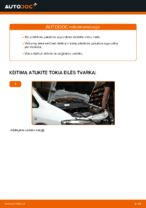 Kaip pakeisti priekinės pakabos spyruokles Opel Zafira F75