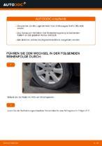 Wie Bremssattelträger VW GOLF tauschen und einstellen: PDF-Tutorial