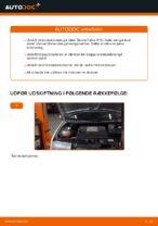 Hvordan bremseskiverne foran på Skoda Fabia 6Y5 udskiftes