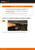 Come sostituire le pastiglie dei freni a disco anteriori Opel Zafira F75