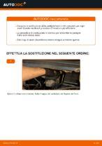 Come sostituire le pastiglie dei freni a disco posteriori Opel Zafira F75