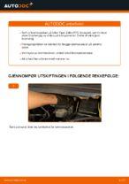 Hvordan bytte fremre bremseskiver på Opel Zafira F75