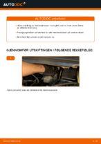 Hvordan skifte fremre bremseklosser på skivebrems på Opel Zafira F75