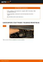 Hvordan skifte bakre bremseklosser på skivebrems på Opel Zafira F75