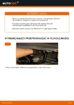 Jak wymienić klocki hamulcowe tylnego hamulca tarczowego w Opel Zafira F75