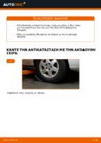 Πώς αντικαθιστούμε το κάτω ψαλίδι της μπροστινής ανεξάρτητης ανάρτησης σε Opel Zafira F75