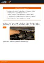 Kako zamenjati zavorne kolute na sprednjem delu pri Opel Zafira F75
