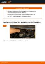 Kako zamenjati sprednje zavorne ploščice za kolutne zavore na Opel Zafira F75