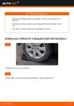 Kako zamenjati zadnjo pesto na Volkswagen Golf V (1K)