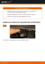 Kako zamenjati zadnje zavorne ploščice za kolutne zavore na Opel Zafira F75
