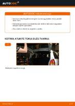 Kaip pakeisti bagažinės dangčio dujines spyruokles automobiliui Opel Zafira F75