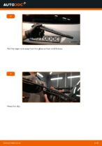 Changing Wiper Blades OPEL ZAFIRA: workshop manual