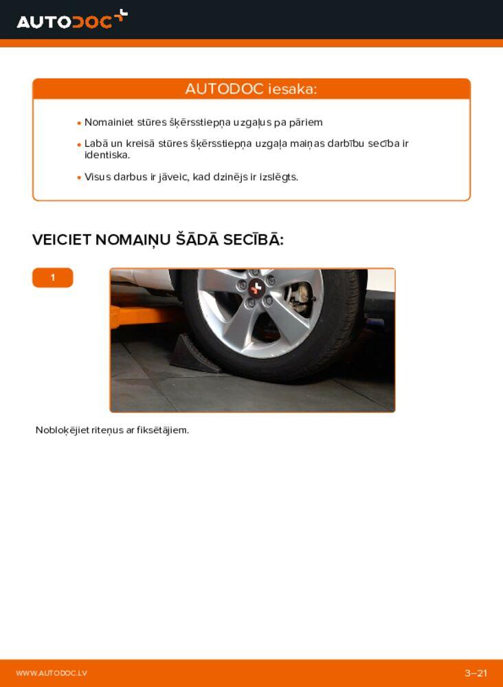 Kā veikt nomaiņu: 1.4 D-4D (NDE150_) Toyota Auris e15 Stūres šķērsstiepņa uzgalis