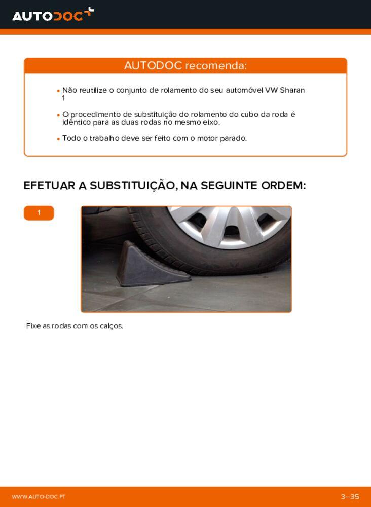 Como realizar a substituição de Rolamento da Roda no 1.9 TDI VW Sharan 1