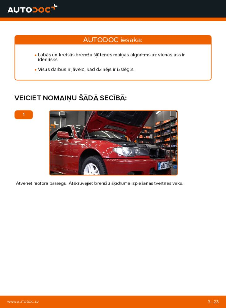 Kā veikt nomaiņu: 330Ci 3.0 BMW 3 Convertible (E46) Bremžu šļūtene