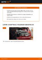 Hvordan bremseskiverne bag på BMW E46 Cabrioletudskiftes
