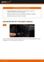 Hur man byter ut bakre stötdämpares fästen på BMW E46 Cabriolet