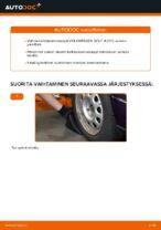 Kuinka vaihtaa ja säätää Kallistuksenvakaajan yhdystanko VW GOLF: pdf-opas