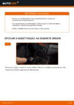 Como substituir os amortecedores da suspensão traseira em BMW E46 Cabrio