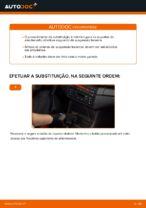 Como substituir o apoio do amortecedor traseiro no BMW E46 Cabrio
