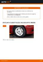 Como substituir os casquilhos da barra estabilizadora dianteira no BMW E46 Cabrio